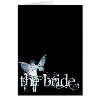 White Dress Fairy Blue - The Bride Card