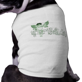 White Dress Fairy Green - The Bride Doggie Tshirt