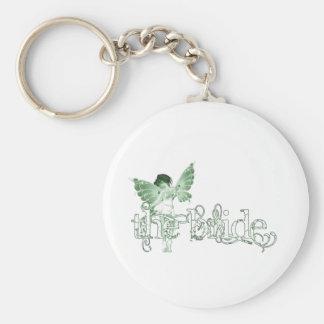 White Dress Fairy Green - The Bride Keychain