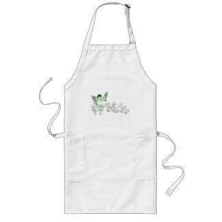 White Dress Fairy Green - The Bride Long Apron