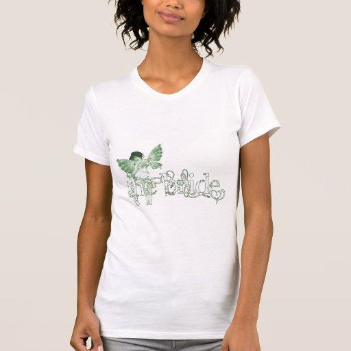 White Dress Fairy Green - The Bride T-shirt