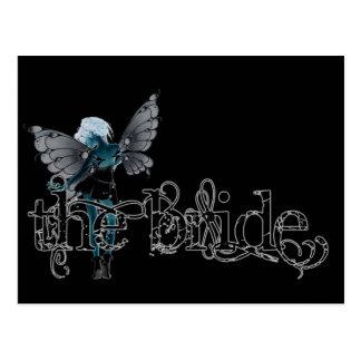 White Dress Fairy Original Negative - The Bride Post Card