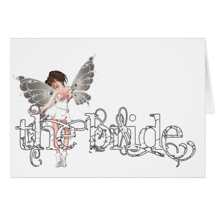White Dress Fairy Original - The Bride Card