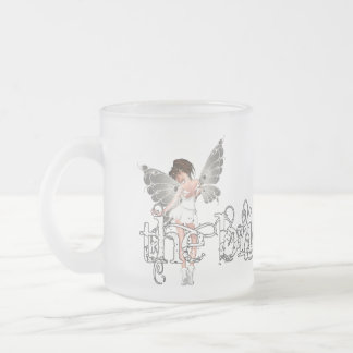 White Dress Fairy Original - The Bride Frosted Glass Coffee Mug