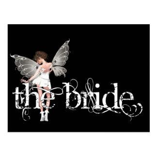 White Dress Fairy Original - The Bride Postcard