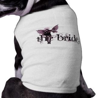 White Dress Fairy Pink Negative - The Bride Doggie Tee