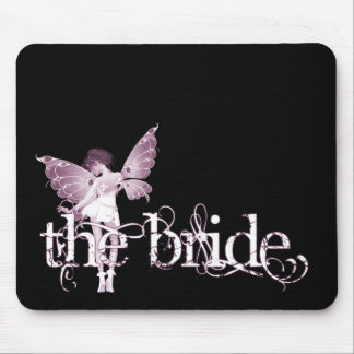 White Dress Fairy Pink - The Bride Mouse Pad