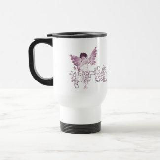 White Dress Fairy Pink - The Bride Travel Mug
