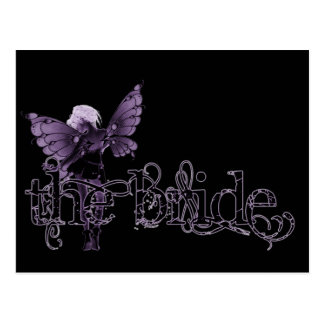 White Dress Fairy Purple Negative - The Bride Postcard