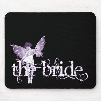 White Dress Fairy Purple - The Bride Mouse Pad