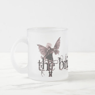 White Dress Fairy Red Negative - The Bride Frosted Glass Coffee Mug