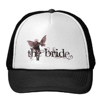 White Dress Fairy Red Negative - The Bride Trucker Hat