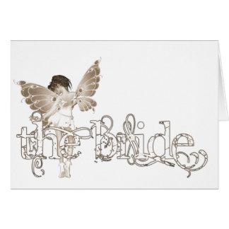 White Dress Fairy Sepia - The Bride Cards