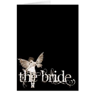 White Dress Fairy Sepia - The Bride Card