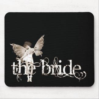 White Dress Fairy Sepia - The Bride Mouse Pad