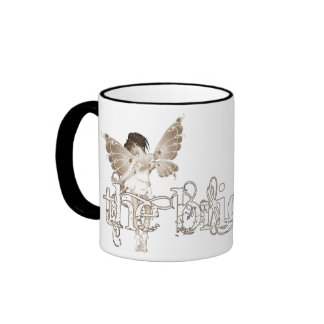 White Dress Fairy Sepia - The Bride Ringer Mug