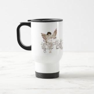 White Dress Fairy Sepia - The Bride Travel Mug