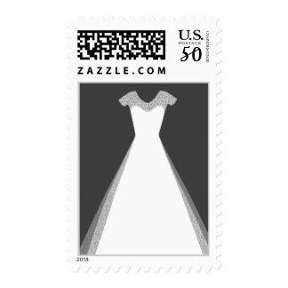White Dress Stamp