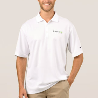 White Dri-fit Polo with Logo