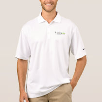 White Dri-fit Polo with Logo