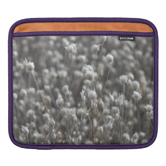 White Dried WildFlowers Sleeves For iPads