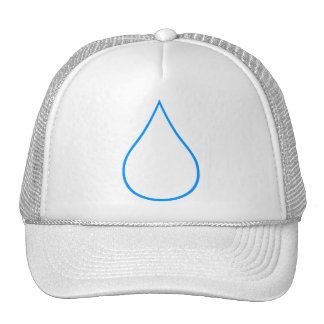 White drop trucker hat
