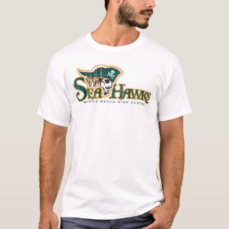 White DT Seahawks T-Shirt(L) T-Shirt