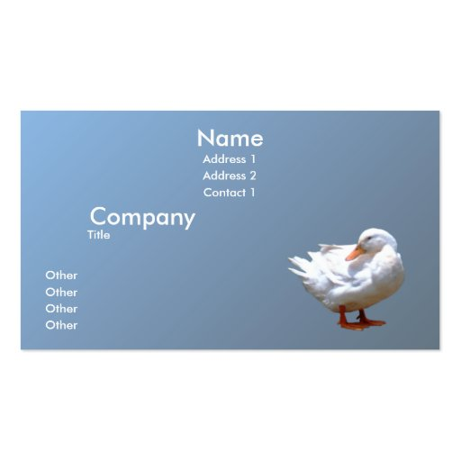White Duck Business Cards