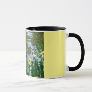 White Duck In Daffodils Mug