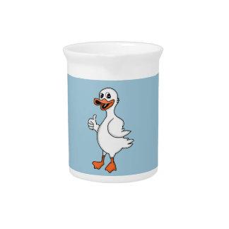 White duck pitcher