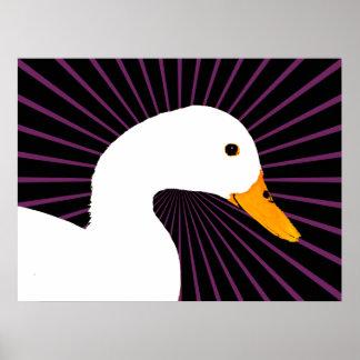 White Duck Pop Art Poster