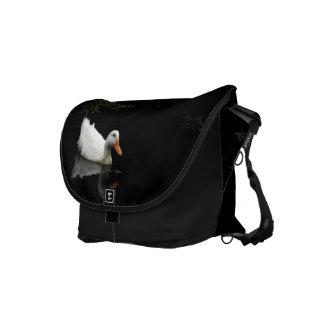 White Duck Rickshaw Messenger Bag