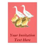 White Ducks and Ducklings Custom Announcement