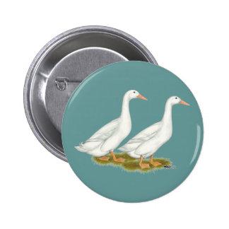White Ducks 2 Inch Round Button