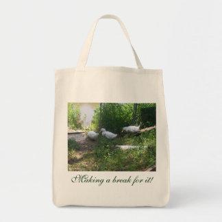 White Ducks on a Ramp Bag
