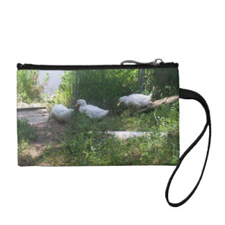 White Ducks on a Ramp Bagette Coin Wallet