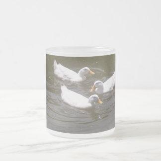 White Ducks Swimming Mug