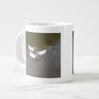 White Ducks Swimming Speciality Mug