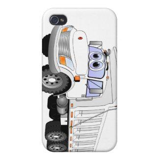 White Dump Truck Cartoon iPhone 4/4S Covers