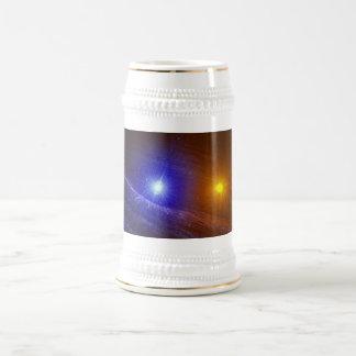 White dwarf and nova star beer stein