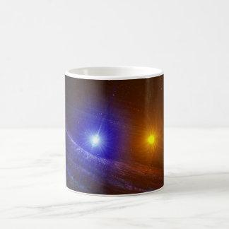 White dwarf and nova star coffee mug