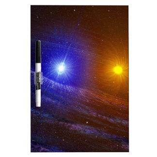 White dwarf and nova star dry erase board