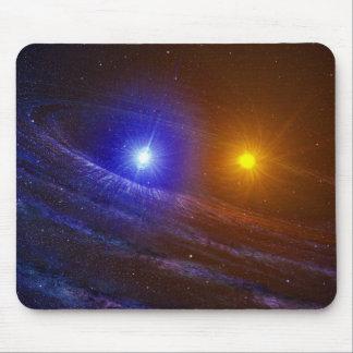 White dwarf and nova star mouse pad