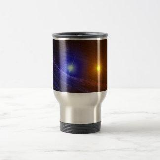 White dwarf and nova star travel mug