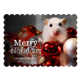 White dwarf hamster Pompon Card