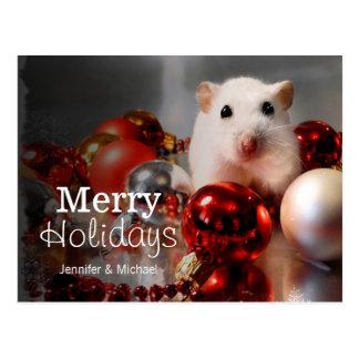 White dwarf hamster Pompon Postcard