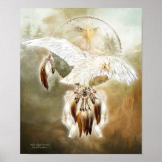 White Eagle Dreams Art Poster/Print