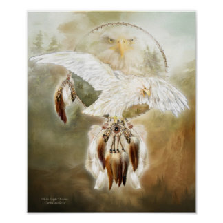 White Eagle Dreams Art Poster/Print Poster