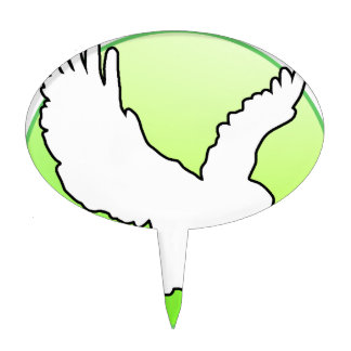 WHITE EAGLE GREEN CIRCLE PRODUCTS CAKE TOPPER
