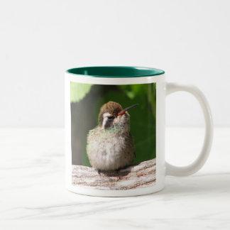 White-eared Hummingbird Mug, right-handled Two-Tone Coffee Mug